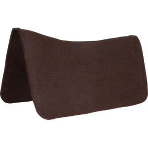 "1/2"" x 30"" x 30"" Contoured Chocolate Brown Poly Pad Protector"