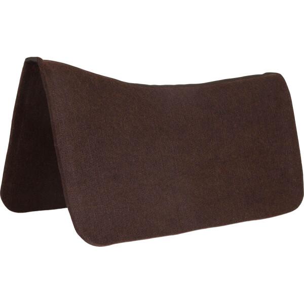 "1/2"" x 30"" x 30"" Contoured Chocolate Brown Poly Pad Protector"