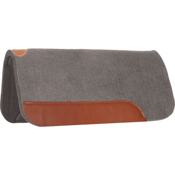 "32"" x 32"" x 3/4"" Felt Contoured Pad w/Top Grain Wear Leathers"