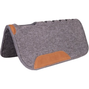 """32"""" x 32"""" x 1""""Felt Pad with Oval Cut Back & Holes and Top Grain Wear Leathers"""