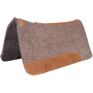 "32"" x 32"" x 1"" Grey Wool Contoured Pad w/Top Grain Wear Leathers"