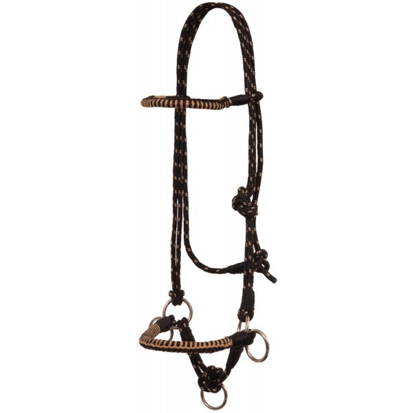 Side Pull Rope Halter with Braided Nose