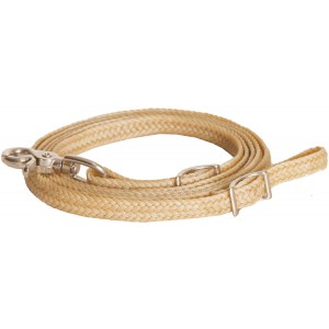 "1/2"" x 8' Waxed Braided Roping Rein with nickel plated hardware"