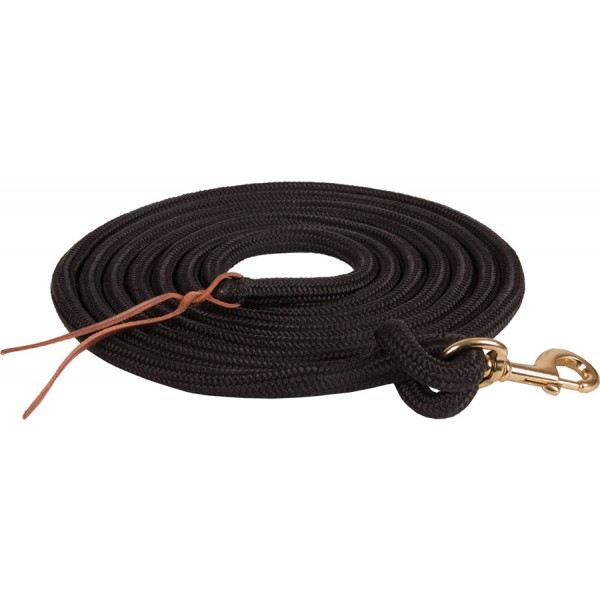 15' Braided Poly Lead Rope w/Brass Plated Snap